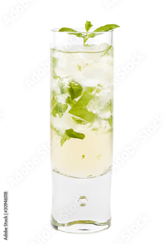 Valokuva  Mint julep drink isolated on white background