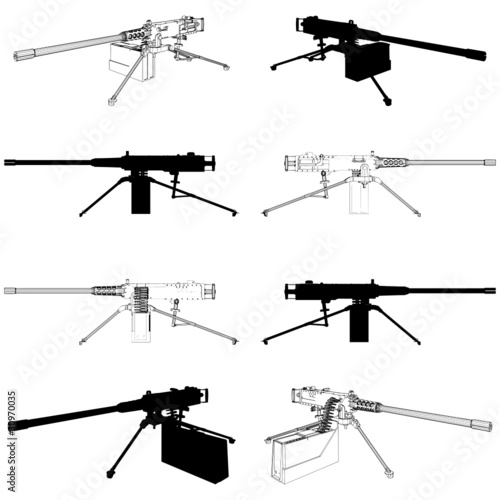 Photo  Browning Machine Gun Vector 02