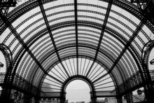 Roof Of Entrance Of Les Halles In Paris, France