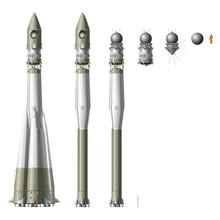 Hi-detailed Space Rocket With First Spaceship