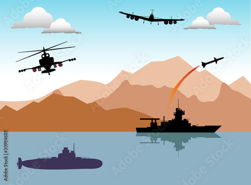 Poster Militaire War area