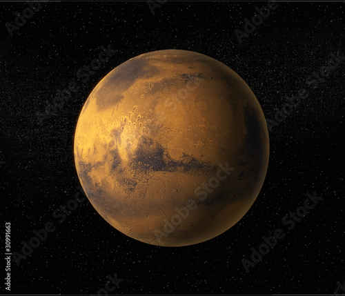 Photo  A view of planet Mars