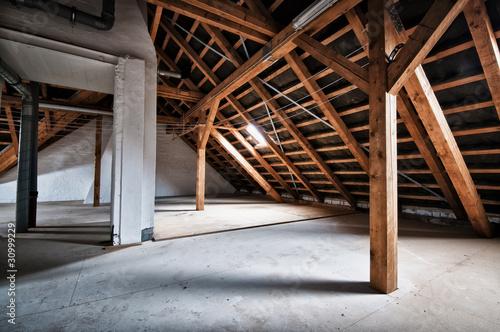 Fotografie, Obraz Empty house attic