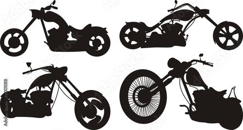 Fotografie, Tablou chpper 2 - motorcycle silhouette