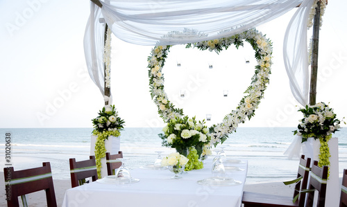 einzelne bedruckte Lamellen - Wedding on the beach (von Kristina Afanasyeva)