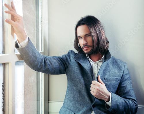 Fototapeta Glamour style photo of an attractive guy obraz