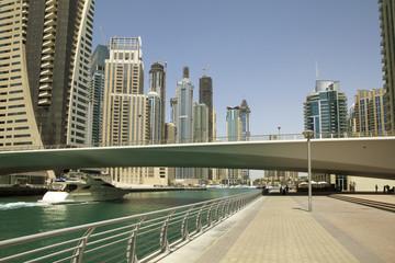Fototapeta na wymiar Town scape at summer. Panoramic scene, Dubai.