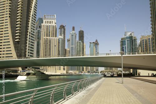 Obrazy na płótnie Canvas Town scape at summer. Panoramic scene, Dubai.