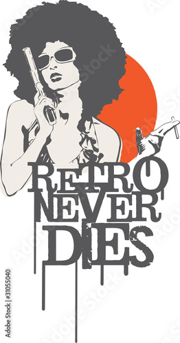 kobieta-z-pistoletem-i-napis-retro-nigdy-nie-umiera