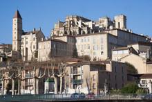 Auch, Vue Sur La Haute-ville (Tour D'Armagnac Et Cathédrale)