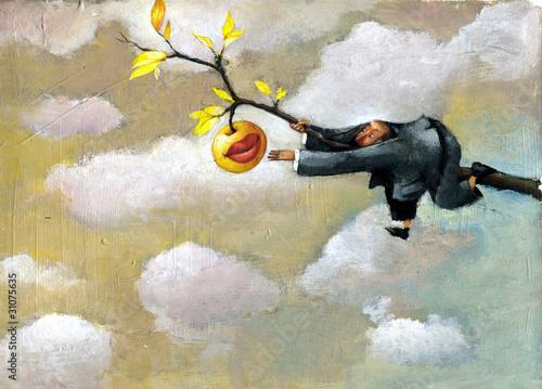 my last sweet fruit poetic illustration surrealism and humor