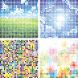 abstract colorful tile backgrounds