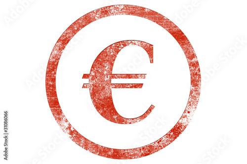 Fototapeta Euro stamp obraz na płótnie