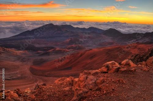 Foto op Canvas Cappuccino Volcanic Crater