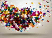 Abstract Background With Trian...