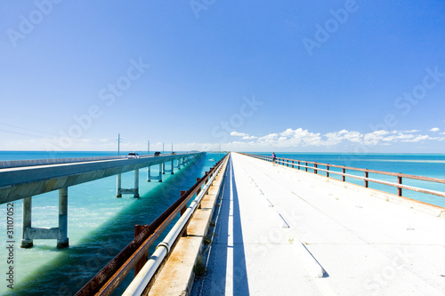 Valokuva  road bridges connecting Florida Keys, Florida, USA