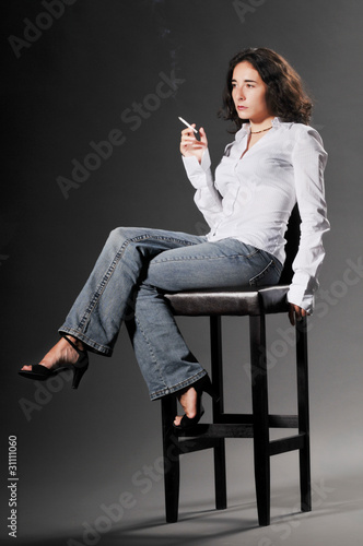 Smoking fetish model - Buy this stock photo and explore similar
