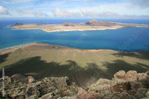 Staande foto Vulkaan Isla Graciosa