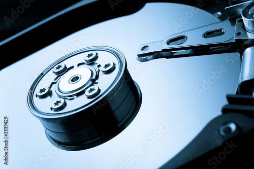 Hard drive macro image Canvas Print