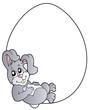 Bunny in blank Easter egg