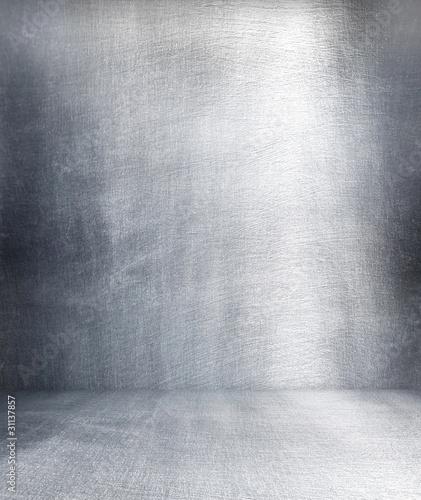 Poster Metal Grunge metal interior.