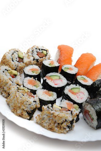 Different Types Of Maki Sushi And Nigiri Sushi In Sushi Set Kaufen