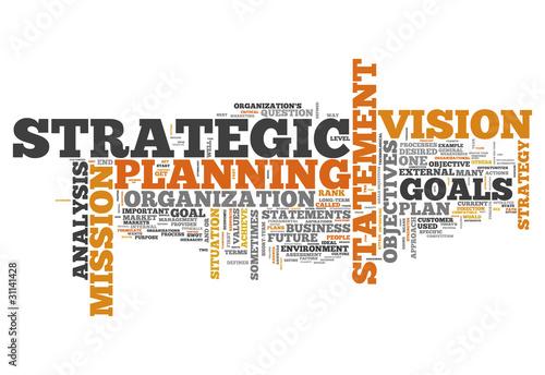 "Fotografie, Obraz  Word Cloud ""Strategic Planning"""