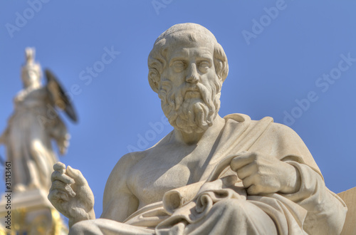 Printed kitchen splashbacks Athens statue of Plato from the Academy of Athens