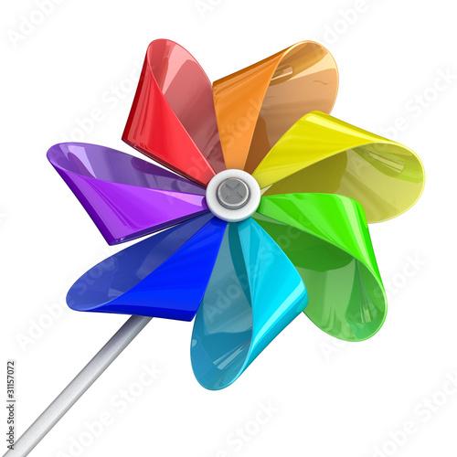 Valokuvatapetti Multicolour pinwheel toy