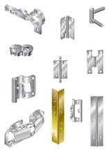 Selection Of Steel Hinges And One Brass