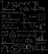Maths formulas on a blackboard