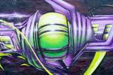 segment of graffiti on a wall