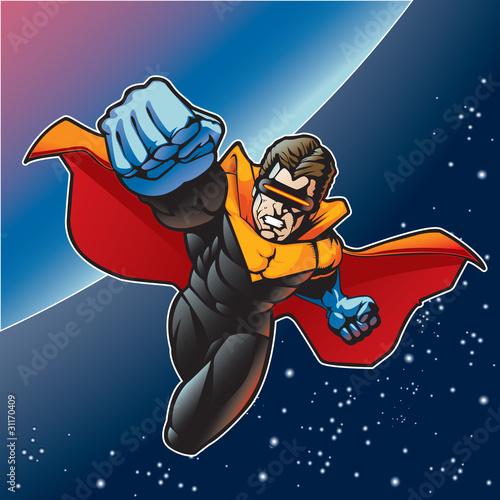 Poster Superheroes Captain Blast Beam 4