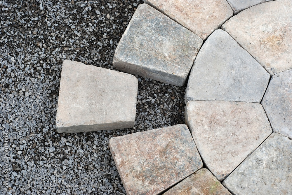 Fototapety, obrazy: Pavers in a circular pattern