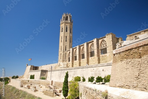 landscape of cathedral at Lleida city