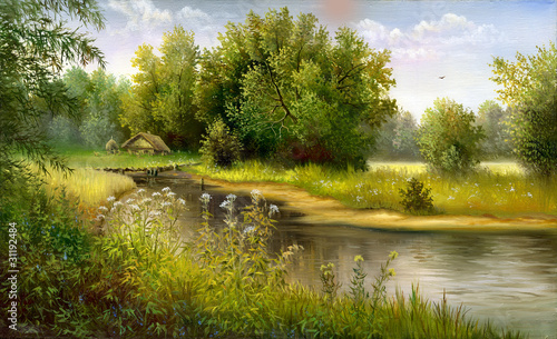 Canvas Prints Honey Wood lake