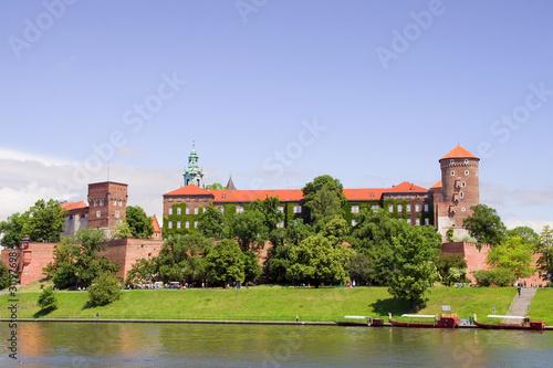 Spoed Foto op Canvas Krakau Wawel Royal Castle in Poland