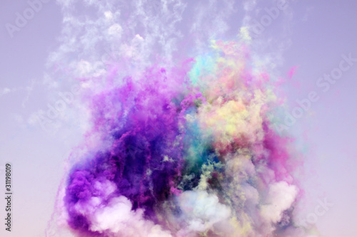 Photo  colored smoke