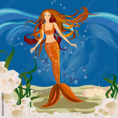 Deurstickers Zeemeermin Mermaid