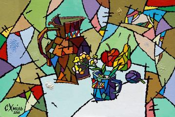 Fototapetaoil paints picture