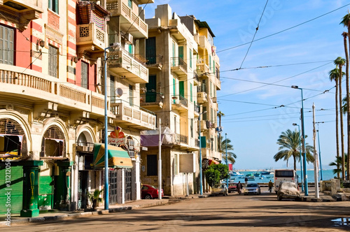 the street of Alexandria, Egypt Canvas Print