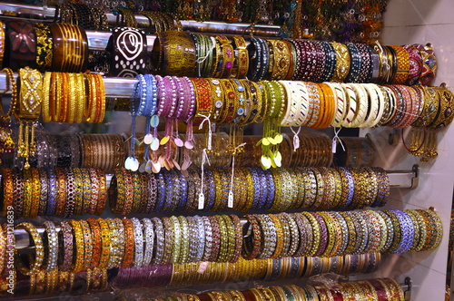 Variation of bangles in a market Wallpaper Mural