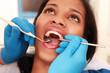 canvas print picture - beim Zahnarzt