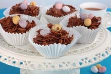 Easter Chocolate Crispy Cakes