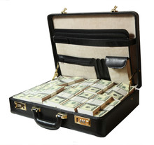 Case Full Of Dollar On White B...