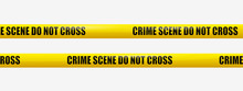 Crime Scene Tape. Transparency...