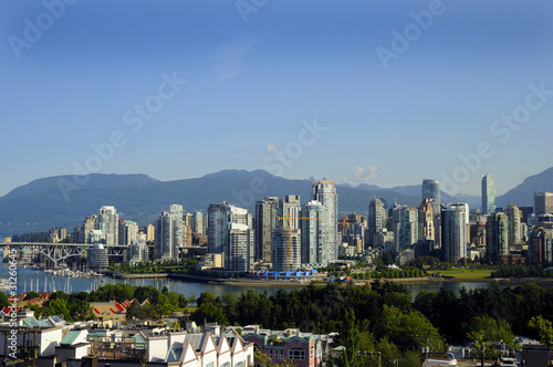 Fotografía  City Skyline of Vancouver in British Columbia in Canada