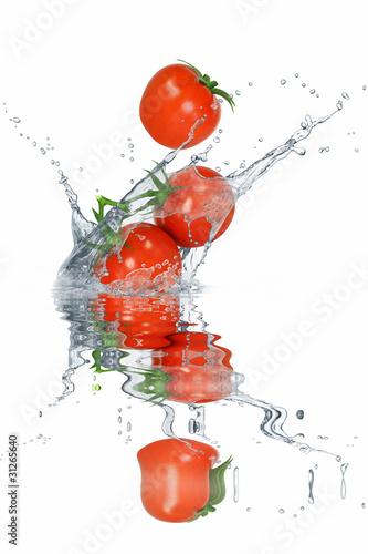 Poster Eclaboussures d eau Gemüse 115