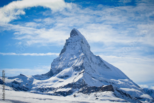 matterhorn in winter Wallpaper Mural