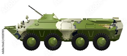 Deurstickers Militair armored troop-carrier.